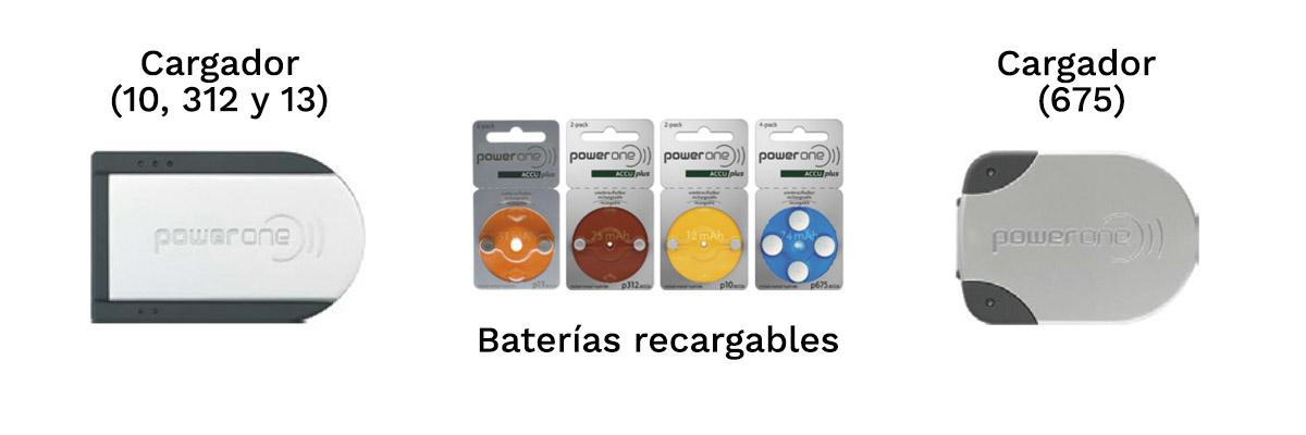 Cargadores y baterías recargables